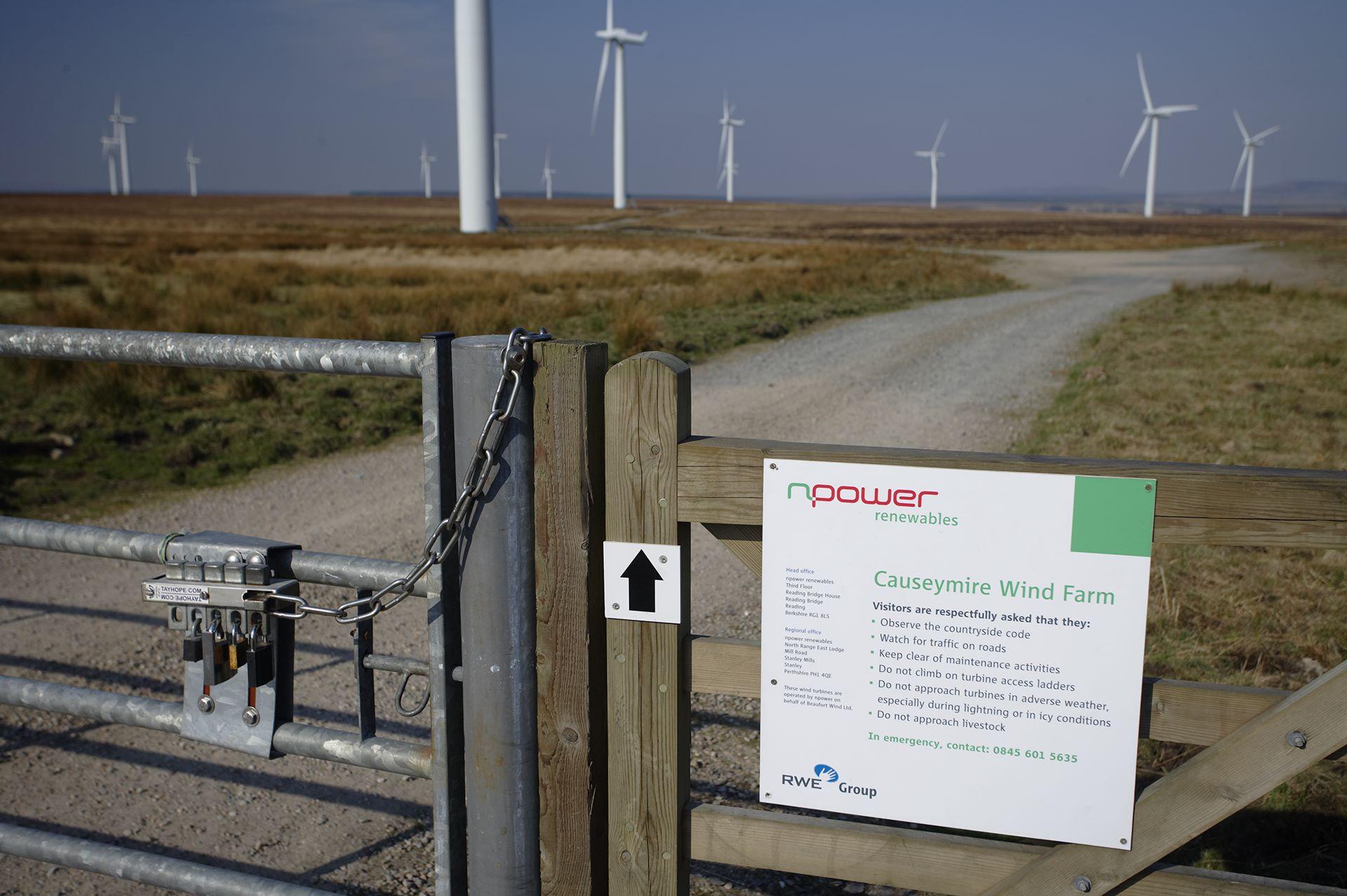 Causeymire Wind Farm, Caithness, Scotland.