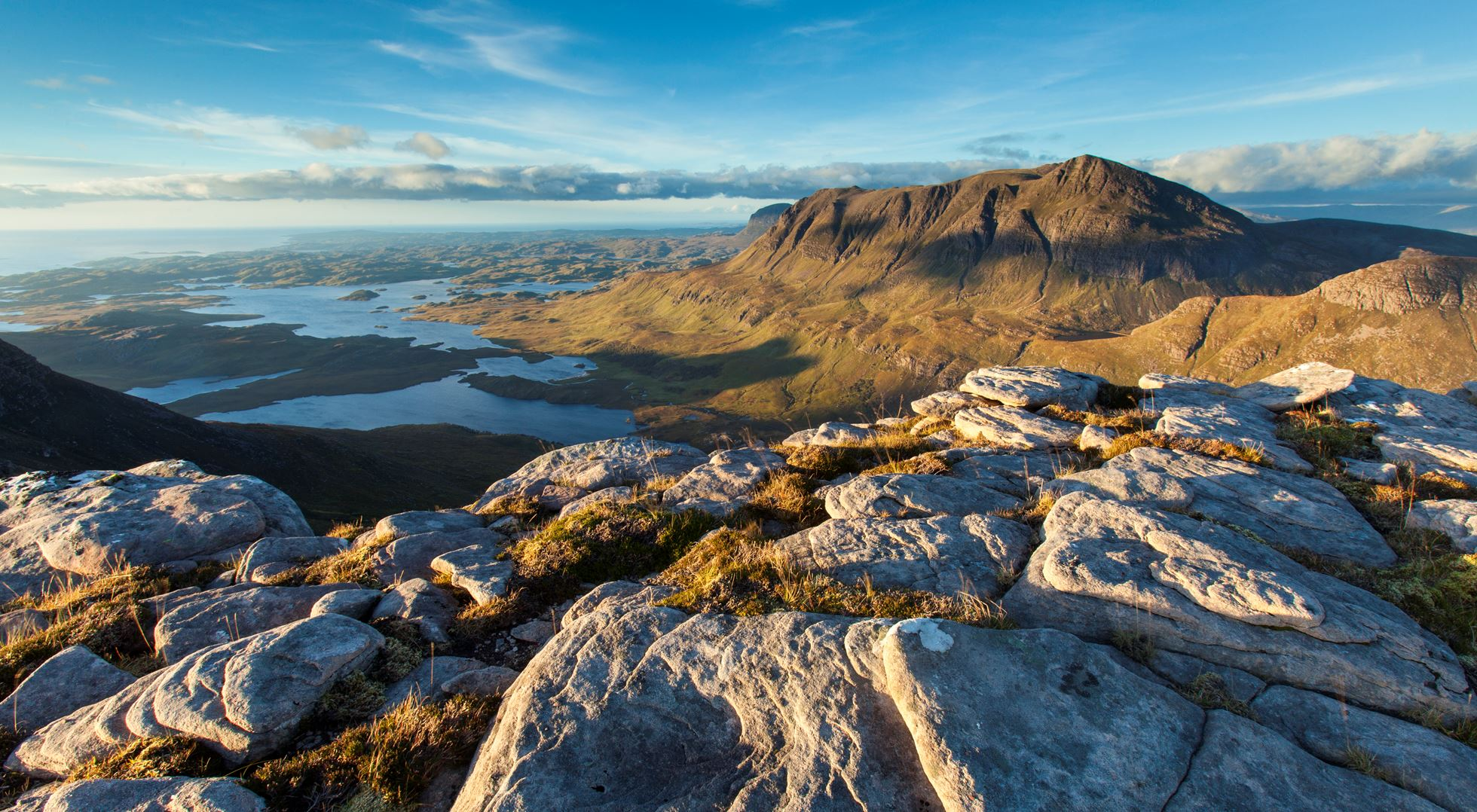 View from Cul Beag to Cul Mor, Assynt, Scotland